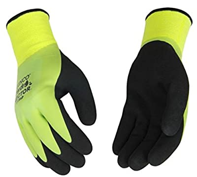 Kinco 1786P Hydroflector Waterproof, Double Thermal Shell & Double-Coated Latex Gloves. Warm, Waterproof, Winter Glove with Incredible Grip and Dexterity. Perfect for Ice & Fly Fishing!