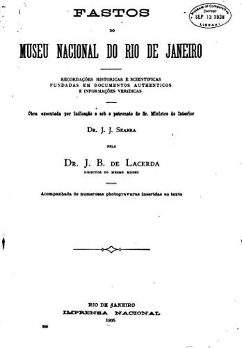 eBook Fastos do Museu Nacional do Rio de Janeiro