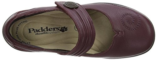 Padders Poem Damen Mary Jane Halbschuhe Rot (Wine)
