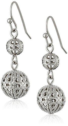 Vintage 1928 Costume Jewelry (1928 Jewelry Cirque Silver Globe Earrings)