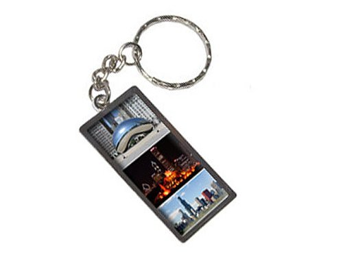 Graphics and More Chicago Bean Buckingham Fountain City Skyline Keychain Ring (K1989)
