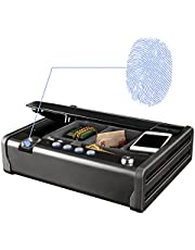 MASTER LOCK Biometric Small Safe [Fingerprint opening] MLD08EB - Best Used for Cheque Books, Money, Jewelry, Passports, Guns and More