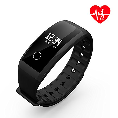 Fitness Tracker/Smart Bracelet, Dawo Smart Watch Waterproof Pedometer Activity Tracker with Sleep Monitor, Heart Rate Monitor, Blood Pressure/Oxygen Monitor Bluetooth 4.0 for IOS & Android - Waterproof Heart Rate Monitors