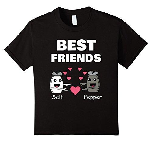 Kids SALT and PEPPER Best Friend Shirts Couples Halloween T-Shirt 12 (The Best Halloween Costume Ideas For Couples)