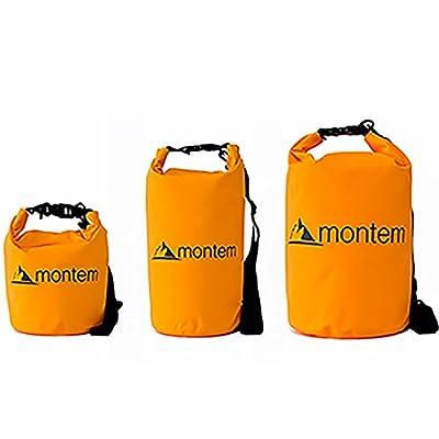 Montem Premium Waterproof Bag / Roll Top Dry Bag - Perfect for Kayaking / Boating / Canoeing / Fishing / Rafting / Swimming / Camping / Snowboarding