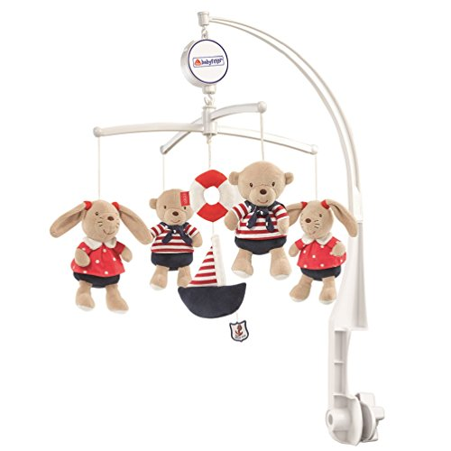 Ocean Club Fehn Musical Mobile Teddies/ Hares (Navy/ Red)