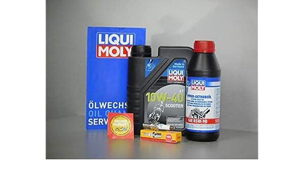 MotorFunSports - Juego de Mantenimiento de Aceite y bujías Kymco People S 125: Amazon.es: Coche y moto