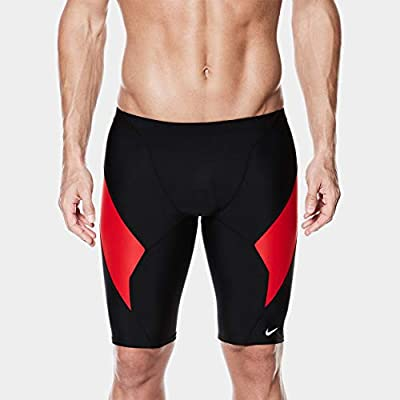 Nike Swim NESS4039 Mens Victory Color Block Jammer, Black-26 ...