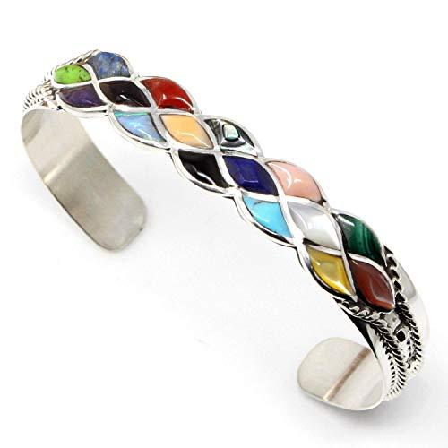L7 Enterprises Zuni Multi Color Inlay Bracelet by Chavez | 5 1/4