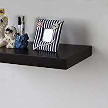 Naiture 60 L x 10 W x 2 H inch Floating Wall Mounted Shelf in Black
