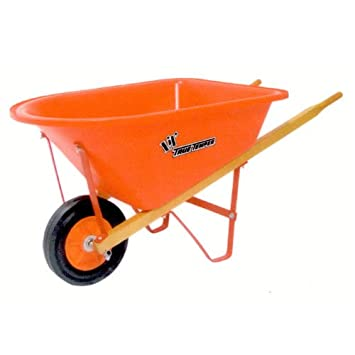 True Temper KPWB10 Real Tools For Kids Lilu0027 Wheelbarrow With Poly Tray