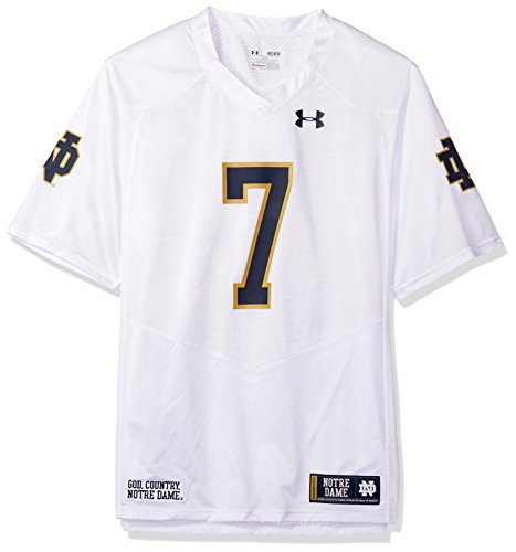 Under Armour NCAA Notre Dame Fighting Irish FG205068A12 Childrens Official Sideline Jersey, Medium, White ()