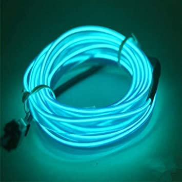 Lerway 5 M Colorful Luminous El Wire Electro Luminescence Cable LED on