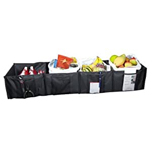 Kennedy Home Collection Fold Away 4 Compartment Trunk Organizer with Velcro Lining