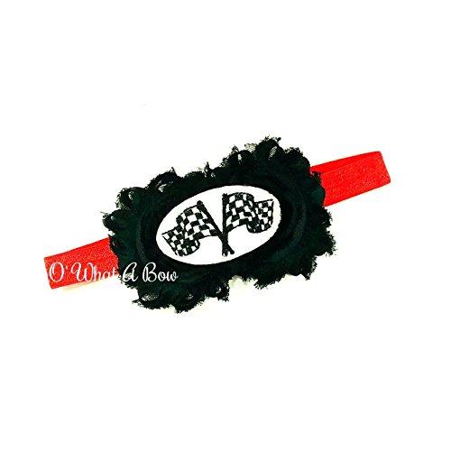 - Racing Checkered Flag Headband