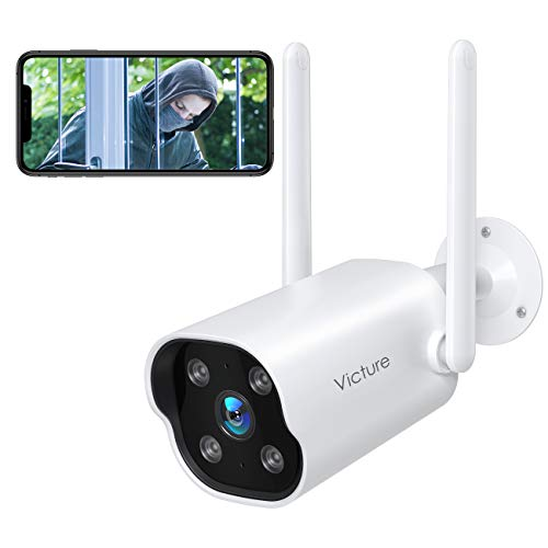 Security Camera Outdoor,Victure 1080P WiFi Home Smart Security Weatherproof Dual Antenna Camera with Night Vision,Motion…
