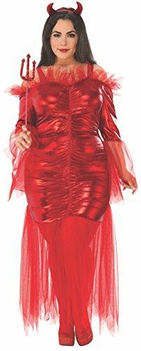 Rubie's Costume Co Women's Plus Devil, Red, Plus Size