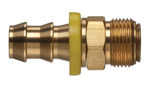 Kuriyama POFMIV-1010 Brass Push-On Hose Fitting, Inverted...