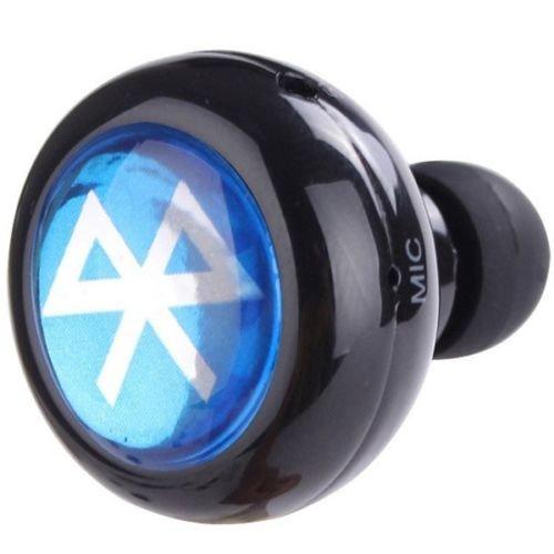MAZIMARK--Mini Bluetooth Wireless In-Ear stereo Headphone Headset Earphone iPhone Samsung (black)