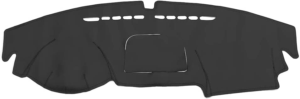 Yeeoy Black Leather Custom Dashboard Protector Dash Mat Sun Cover Replacement for Volkswagen VW Tiguan 2010-2017