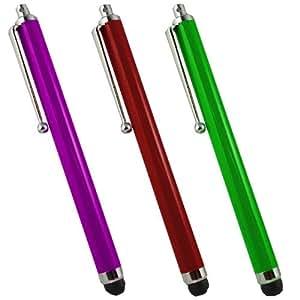 SAMRICK alta capacitiva de aluminio lápiz capacitivo para LG Cookie Fresh GS290–morado/rojo/verde (3unidades)