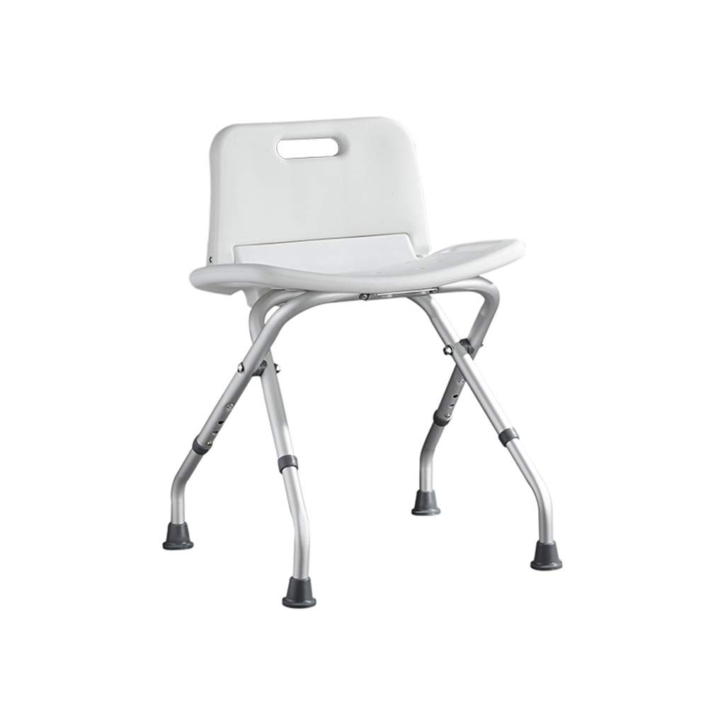 BEAUTY--shower stool Elderly Portable Medical Stool Lightweight Foldable Multifunctional Height Adjustable Shower Seat with Safety Backrest (Color : B)