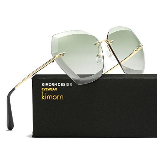 Kimorn amp;Vert soleil découpe Lentilles femmes cerclées Non pour classiques diamantées Or AE0534 de Lunettes de rUqwrF