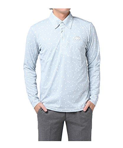 カッパゴルフ ゴルフウェア ポロシャツ ハニカム柄長袖シャツ KG752LS93S WT L