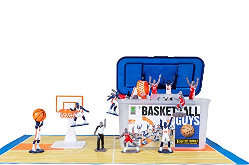 Kaskey Kids Basketball Guys - Red/Blue Inspires Kids Imaginations with Endless Hours of Creative, Open-Ended Play - Includes 2 Teams & Accessories - 21 Pieces in Every Set!
