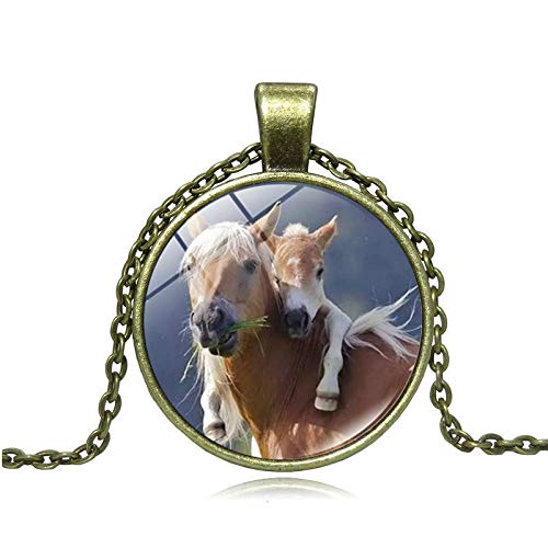 GYXYZB Necklace Female Retro Horse Series Clavicle Chain Simple Pendant