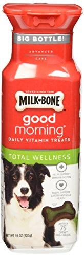 Milk-Bone Good Morning Total Wellness Daily Vitamin Dog Treats, 15 oz., Pack of 2