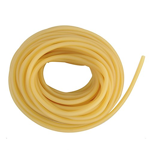 3 x 5 mm Natural Latex Rubber Elastic Tube Tubing Replacement Rubber for Stone/Spinner Spinner, Yellow 3 Meters LOERZX