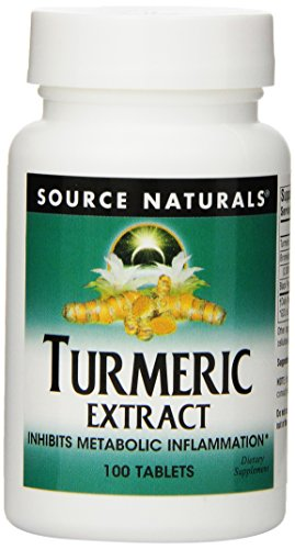 Source Naturals Turmeric Extract, 100 Tablets (Natural 100 Tabs)