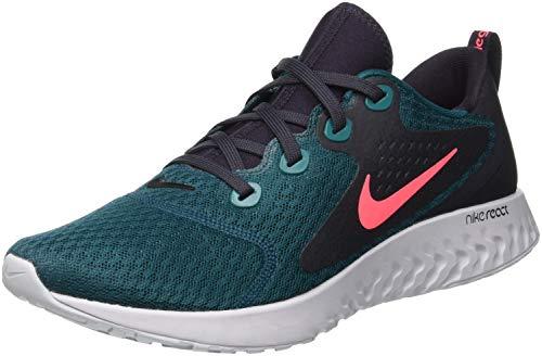 Nike Herren Legend React Laufschuhe, Mehrfarbig (Geode Teal/Hot Punch/Oil Grey/Vast Grey 300)