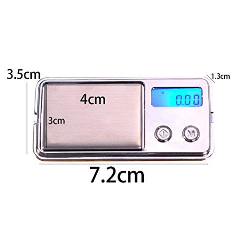 Iuhan Jewelry Scale, 100g/0.01g Electronic Digital LCD Display Scale Portable Pocket Jewelry Scale (Silver)