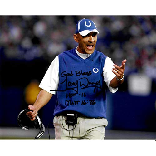 (Tony Dungy Football Coach Colts Signed 8x10 Photo)