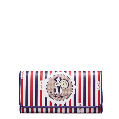 Women's Cute Circus Print Long Trifold Leather Wallet