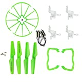 Coolplay® Syma X5 X5c Quadcopter Green Full Set Replacements Accessories Motors & Propellers & Landing Skid Protectors & Motor Base & Blade Frame for Syma RC Quadcopter