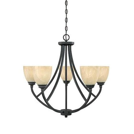 Amazon.com: tackwood – Lámpara de techo con brazos en bronce ...