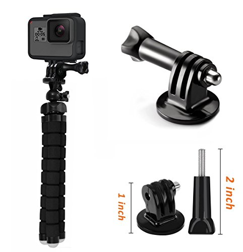 SP-DTS-33 - Phone tripod, Portable and Adjustable Camera Stand Holder with Remote and Universal Clip for iPhone, Android Phone, Camera, Sports Camera GoPro ()