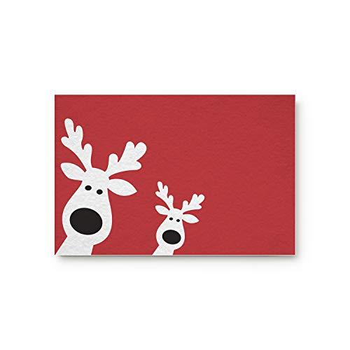 Doormat Durable Non-Skid Slip Rubber Christmas Theme Winter Holiday Cute Reindeer Peep Red Background Indoor Decorative Door Mat for Entrance Welcome - Front Door Bedroom 20