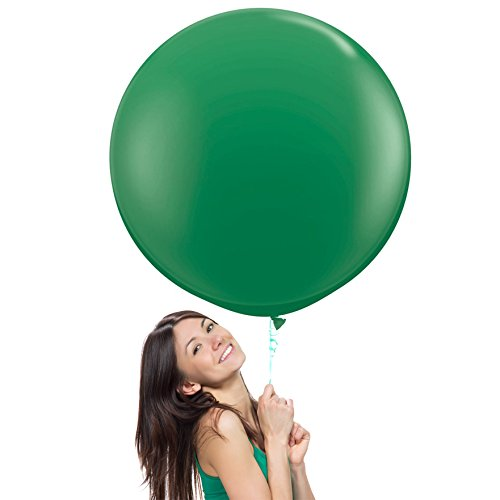 36 Inch (3 ft) Giant Jumbo Latex Balloons (Premium Helium Quality), Pack of 12, Round Shape - Green, for Photo Shoot/Birthday/Wedding Party/Festival/Event/Carnival by Balloon Red