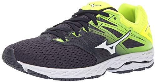 (Mizuno Men's Wave Shadow 2 Running Shoe, Graphite-White, 9 D US)