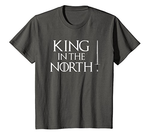 Kids King In The North T-Shirt Easy Halloween Costume Top Tee 10 (Top Ten Easy Halloween Costumes)