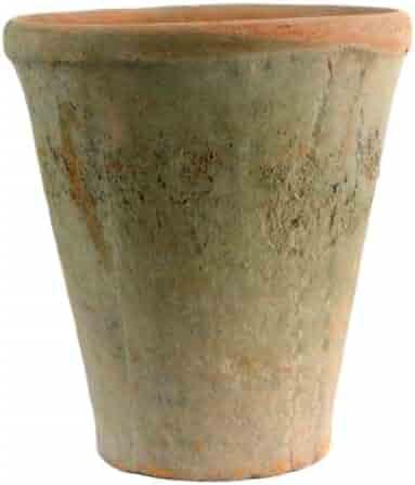 HomArt Rustic Terra Cotta Rose Pot, Large, Antique Red, 1-Count (7683-0)