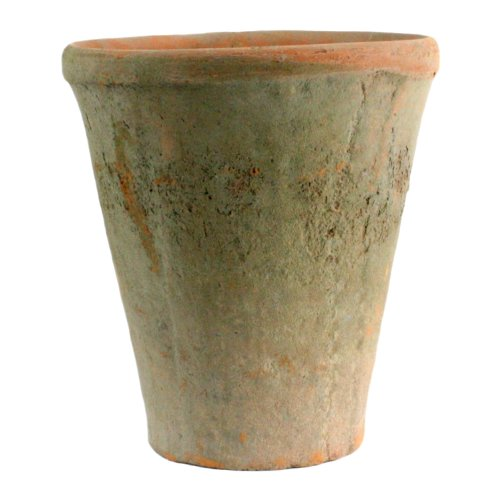HomArt Rustic Terra Cotta Rose Pot, Large, Antique Red, 1-Count (7683-0) ()