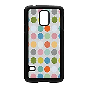 Multicolor Dots Black Hard Plastic Case Snap-On Protective Back Cover for Samsung? Galaxy S5 by Inge van Hoppe + FREE Crystal Clear Screen Protector