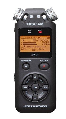Tascam Portable Studio Recorder Black 7.5 x 2.4 x 1.2 inches DR-05V2