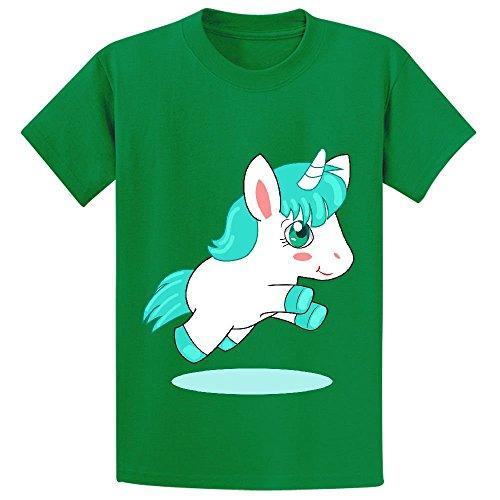 Moonflow Cute Unicorn Pegasus T Shirt Kids Green