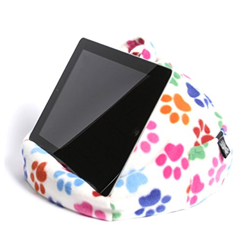 iPad, Tablet & eReader Cushion Bean Bag Pillow Stand -Paws - Suitable for All Tablets! 100% Comfort & Stability at Any Angle. Helps Avoid iPad RSI. Perfect for Sofa, Bed, Desk, Knee or car